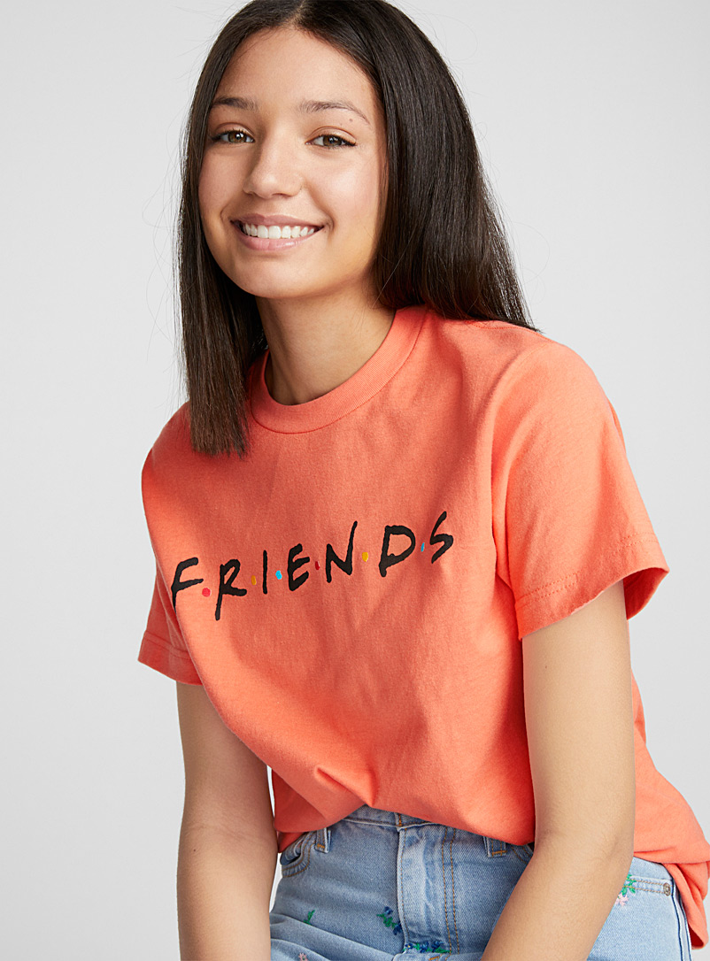 Friends t-shirt - Short Sleeves & ¾ Sleeves - Coral