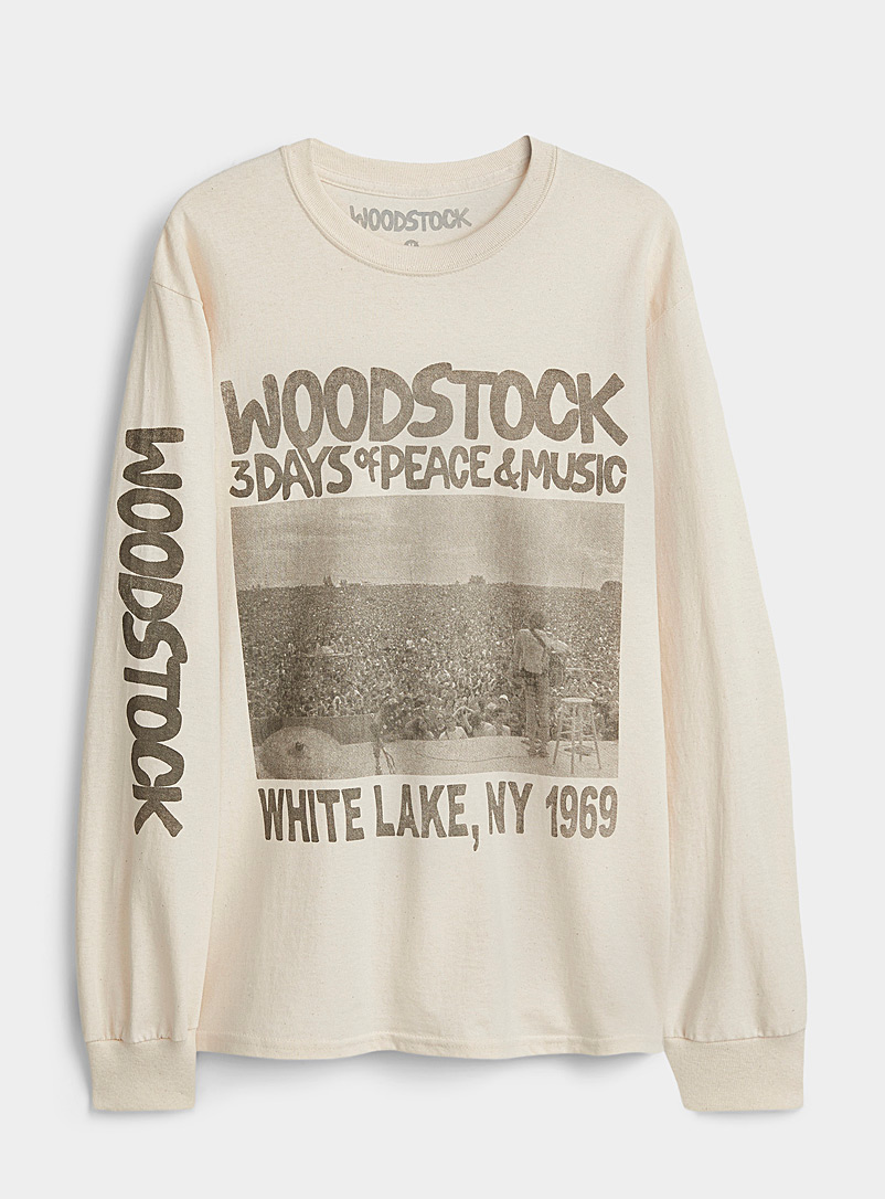 Djab Cream Beige Woodstock T-shirt for men