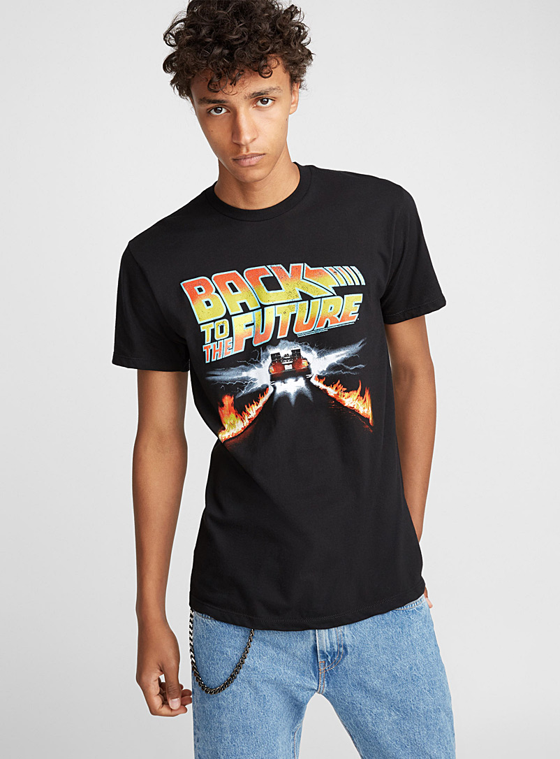 Djab: Le t-shirt Back To The Future Noir pour homme