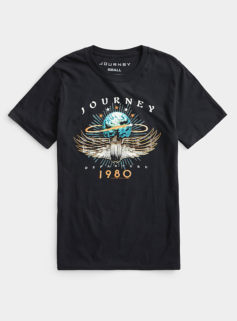 Le 31 Black Journey T-shirt for men