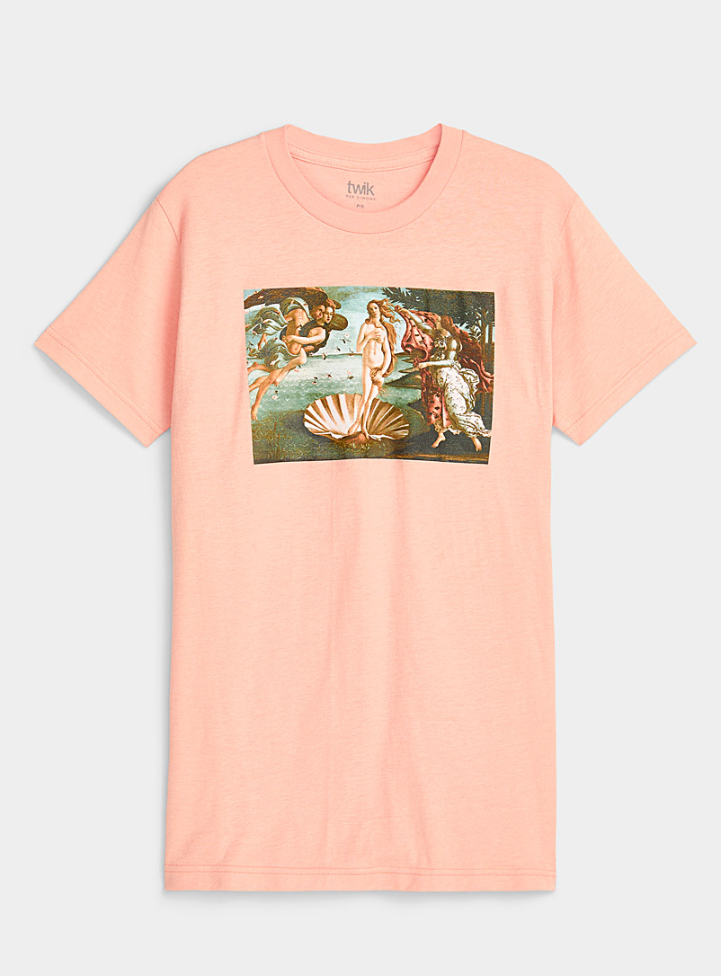 Twik Peach Vintage artwork T-shirt for women