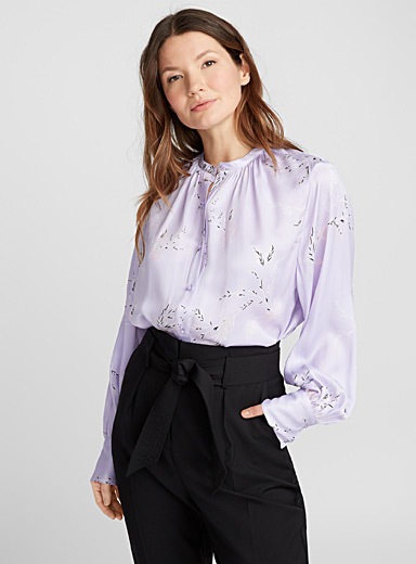 Sea lavender blouse