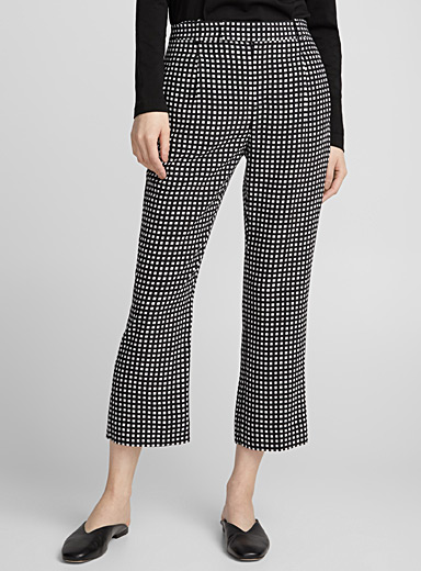 Bergen contrast check silk pant