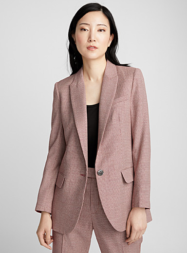 Berke ivory and brick blazer
