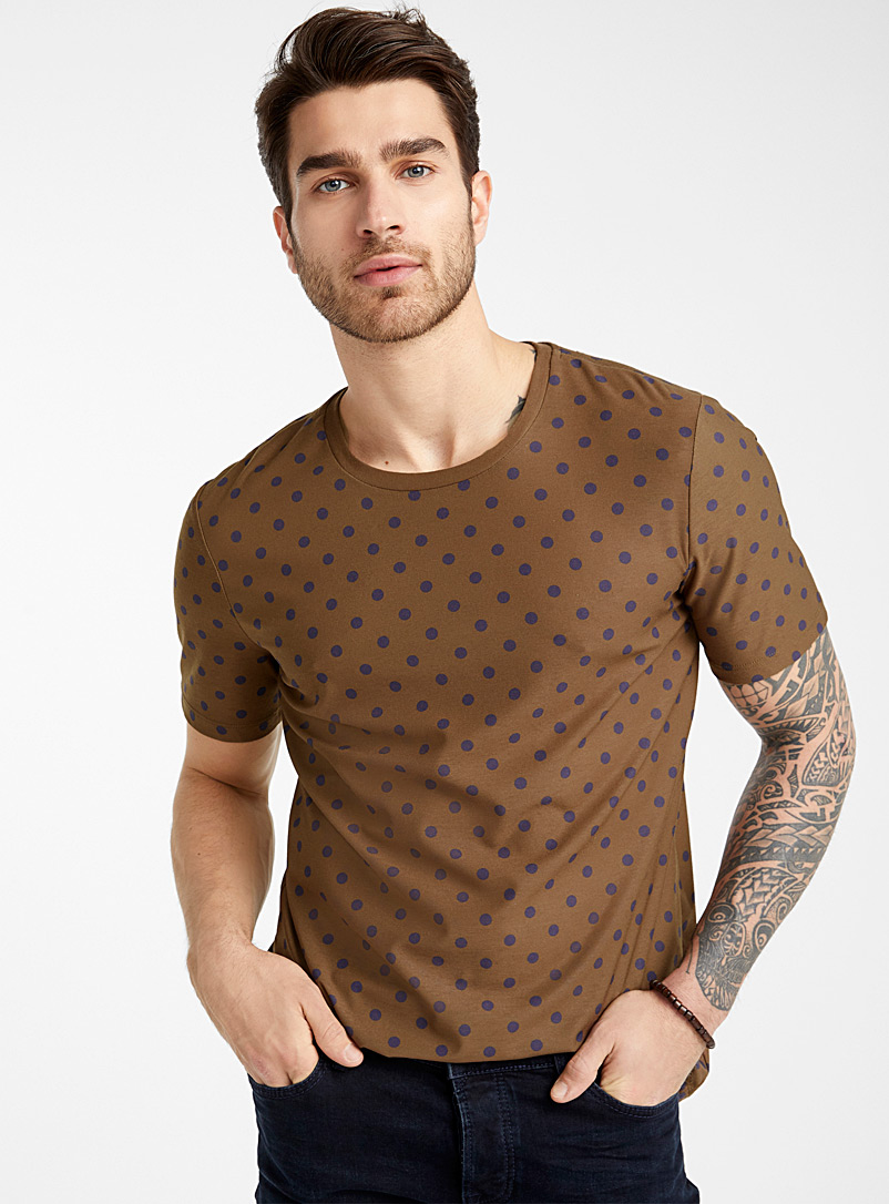 Dotted fluid T-shirt - Prints - Patterned Brown