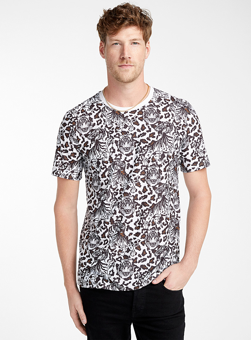 Baroque tapestry T-shirt - Prints - Ivory White