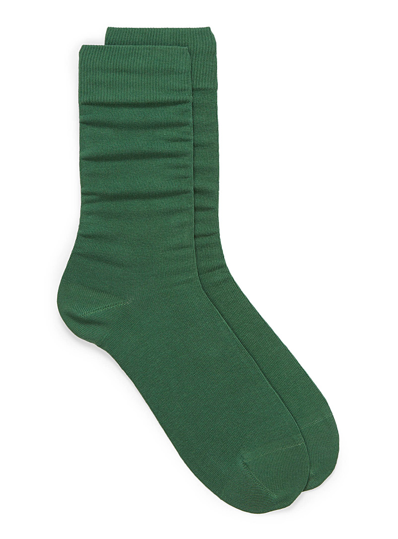 Cotton jersey socks - Casual socks - Bottle Green