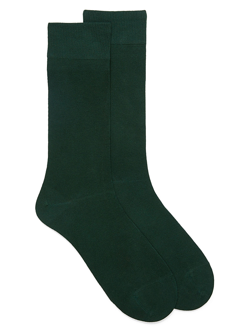 Le 31 Kelly Green Cotton jersey socks for men