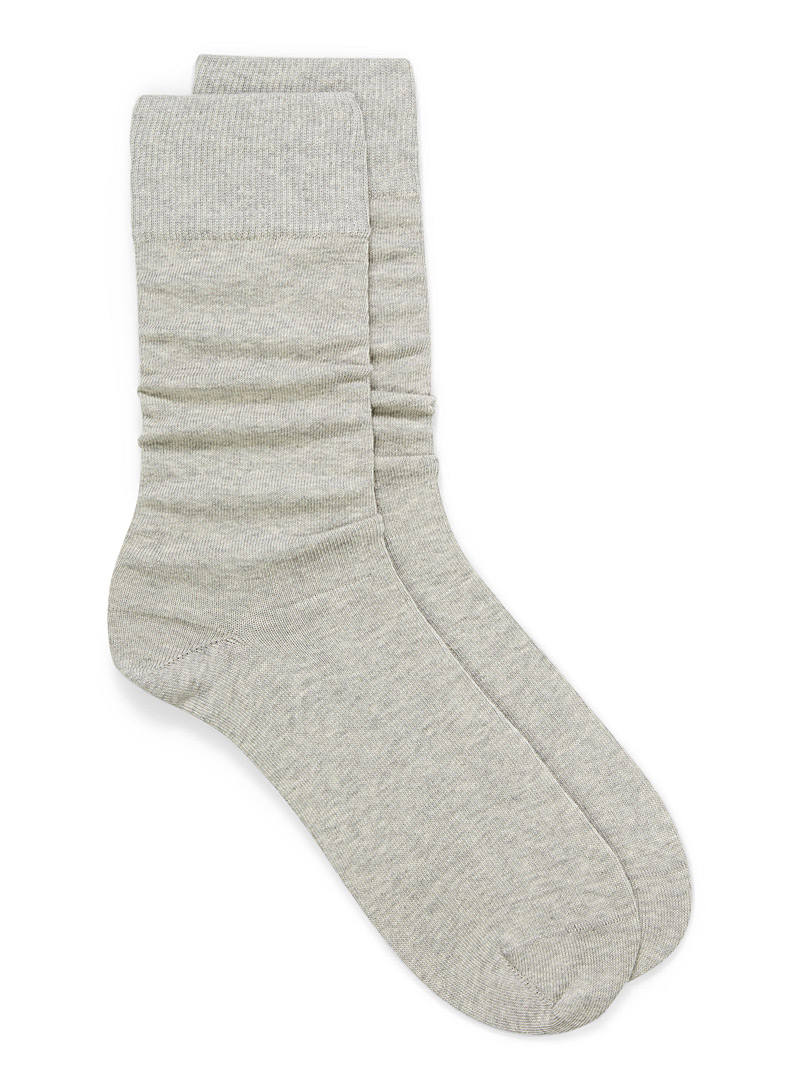 Cotton jersey socks - Casual socks - Grey