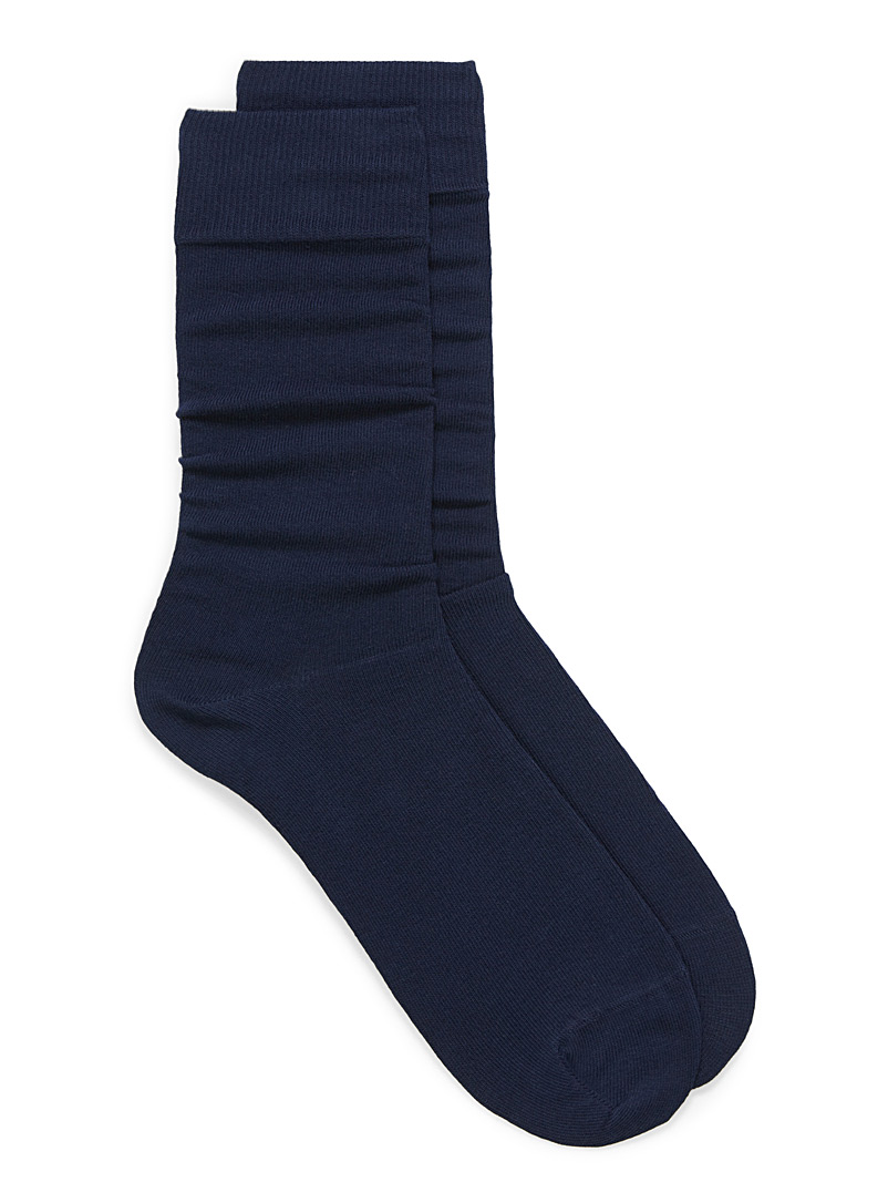 Le 31 Sapphire Blue Cotton jersey socks for men
