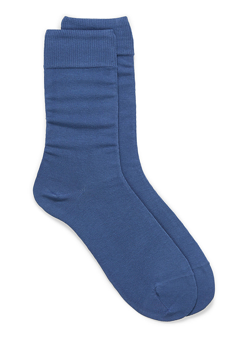 Cotton jersey socks - Casual socks - Slate Blue