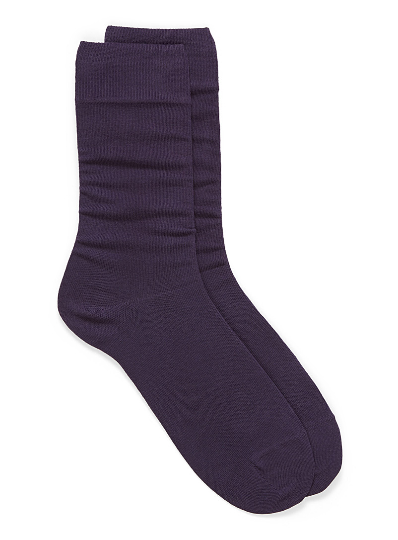 Cotton jersey socks - Casual socks - Dark Crimson