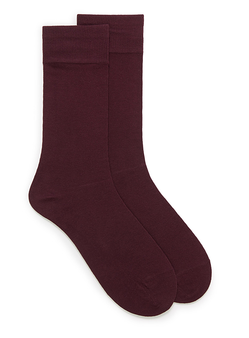 Le 31 Bright Red Cotton jersey socks for men