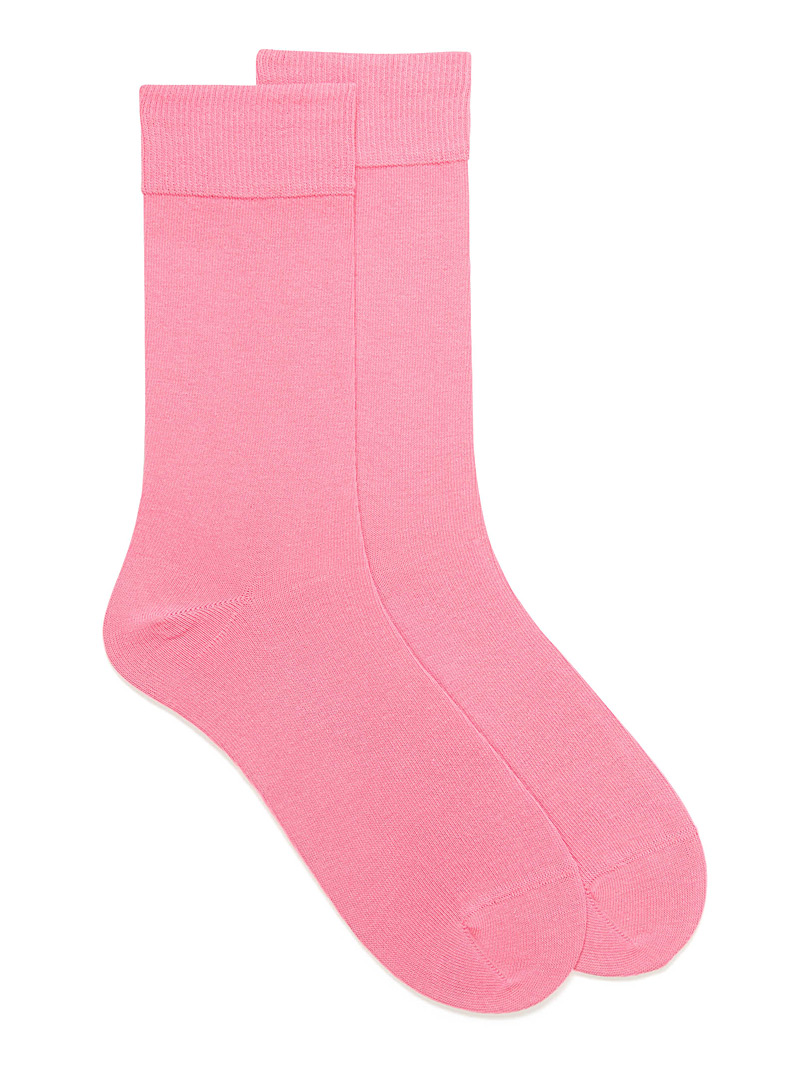 Cotton jersey socks - Casual socks - Dusky Pink