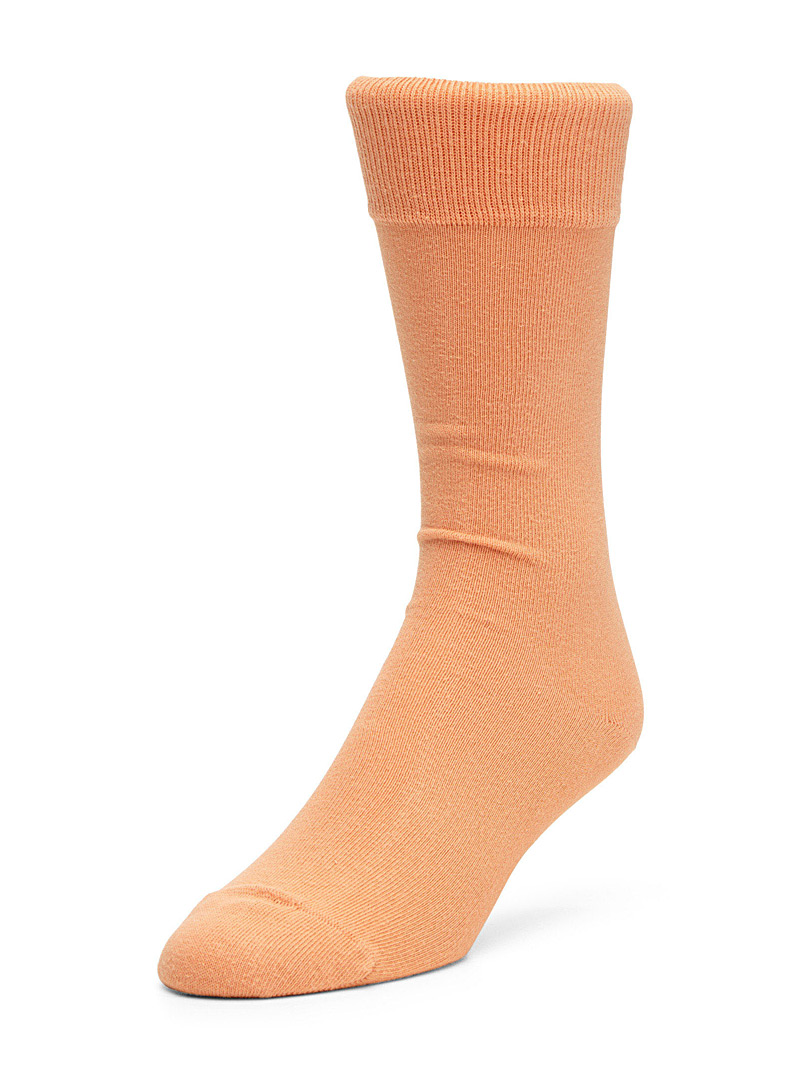 Cotton jersey socks - Casual socks - Peach