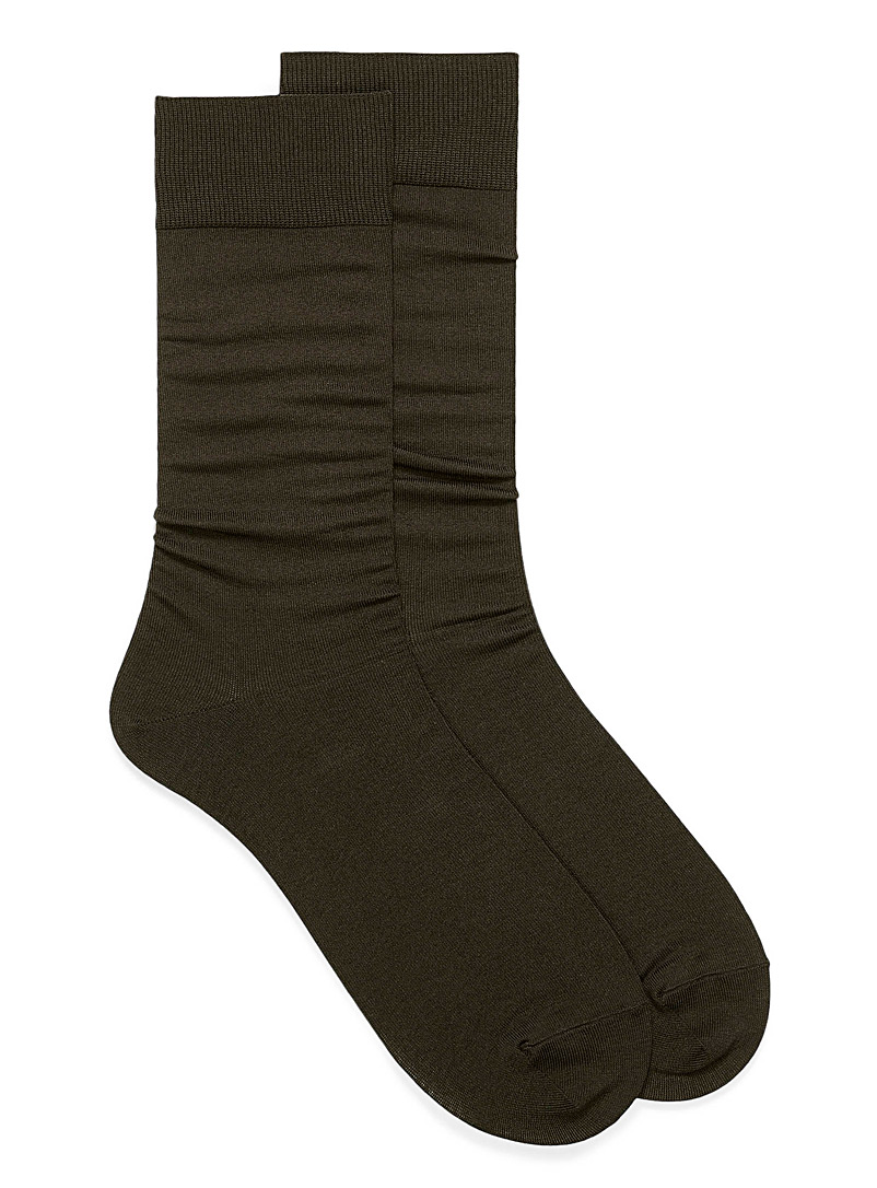Essential coloured socks - Dressy socks - Brown