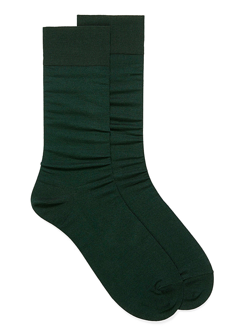 Le 31 Mossy Green Essential coloured socks for men