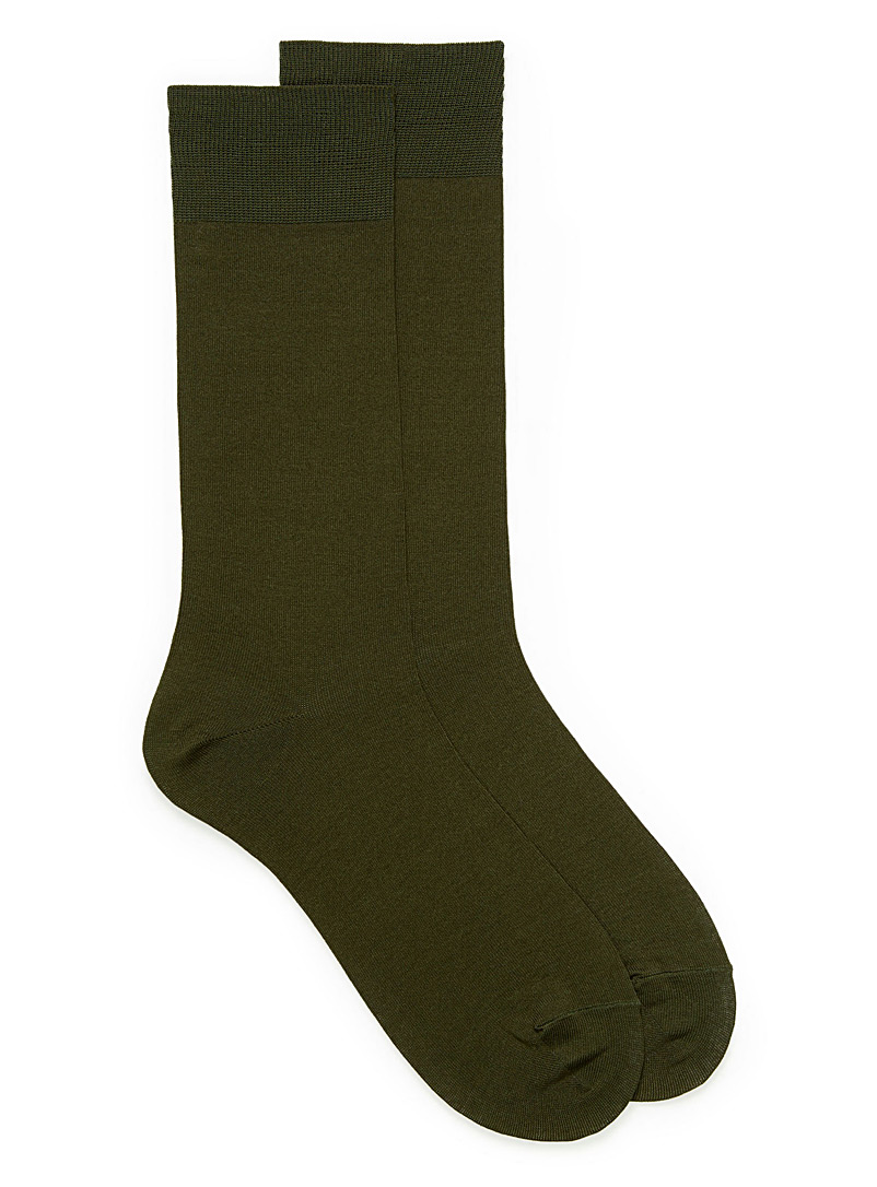 Le 31 Khaki Essential coloured socks for men