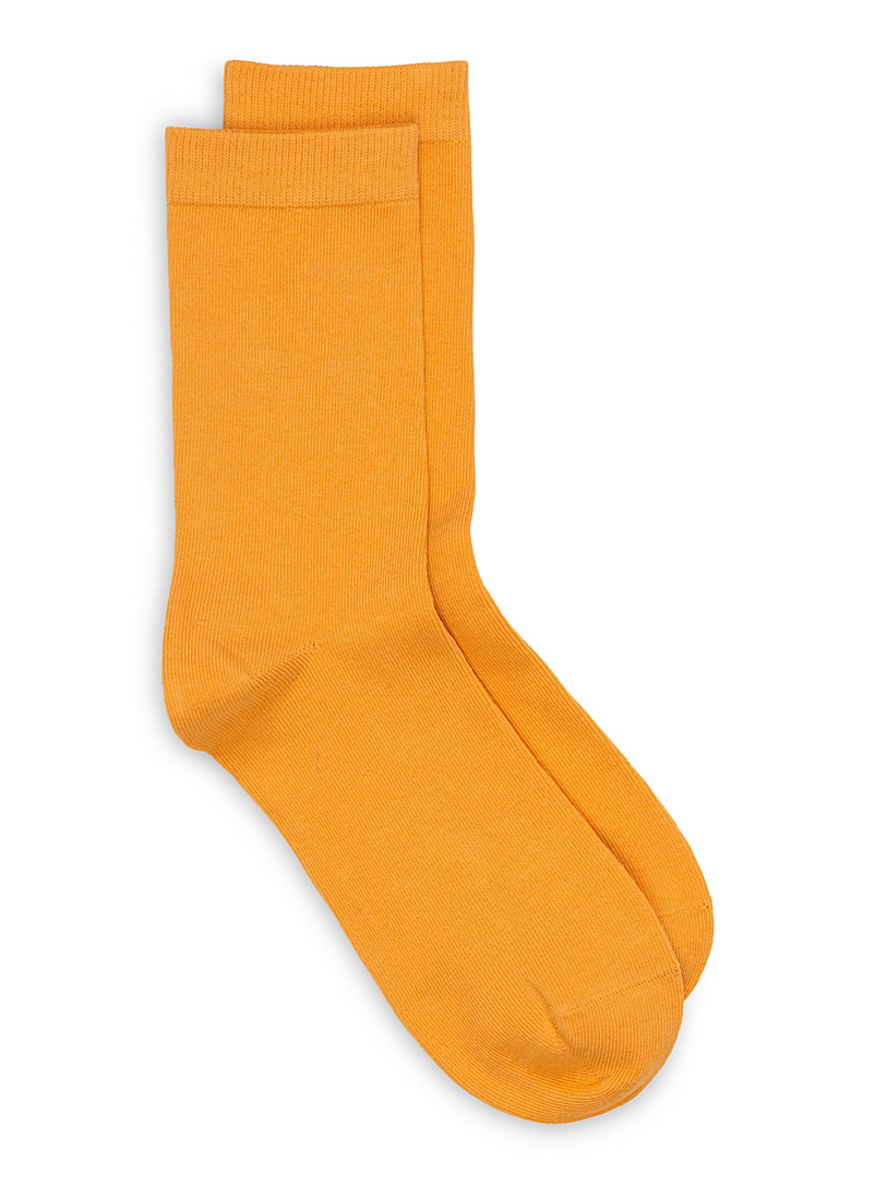 Solid basic socks - Socks - Golden Yellow