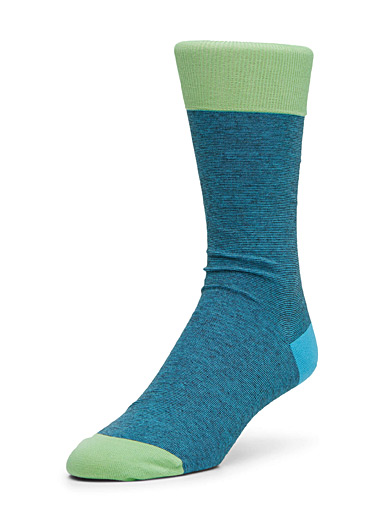 Pop accent micro stripe socks