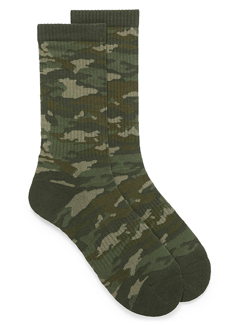 Camouflage ribbed socks - Casual socks - Patterned Green
