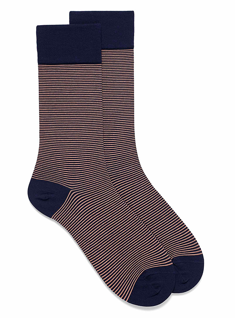 Fine stripe dress socks