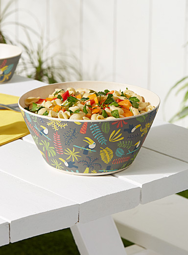Toucans bamboo salad bowl