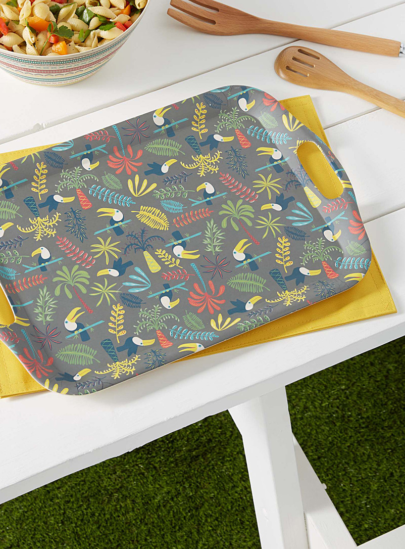 Simons Maison Assorted Toucans bamboo serving tray