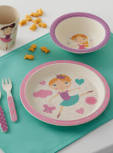 Dancing girl bamboo tableware  Five-piece set