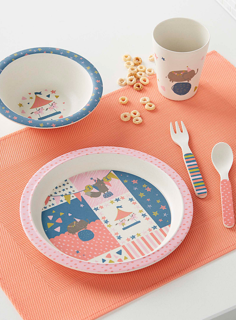 Circus fun bamboo dishes  Five-piece set - Kitchen - Assorted