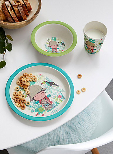 Little explorer children tableware  Three-piece set