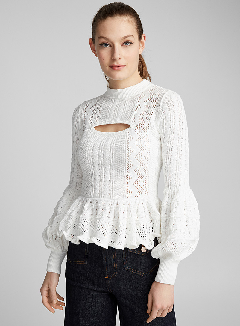 Knit top - Self-Portrait - Ivory White