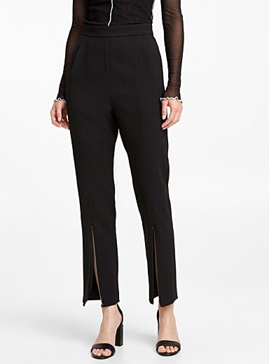Crepe split trousers