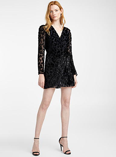 La robe Metallic Leopard
