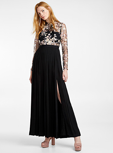 La robe Midnight Floral Mesh