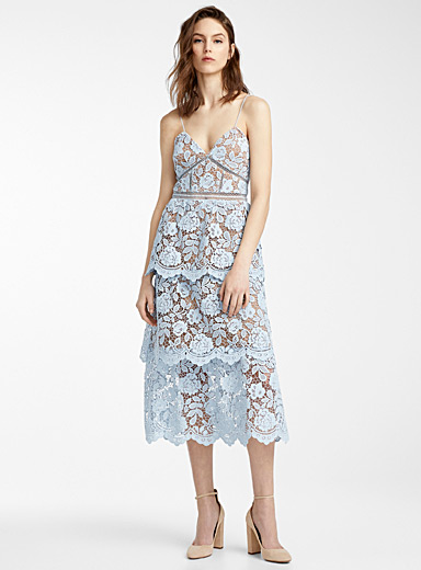 La robe Flower Lace midi