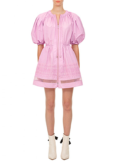 Self-Portrait Lilacs Puff sleeves mini dress for women