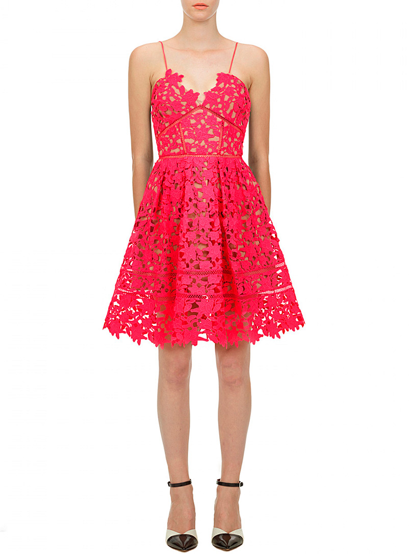 Self-Portrait Red Azalea dress for women