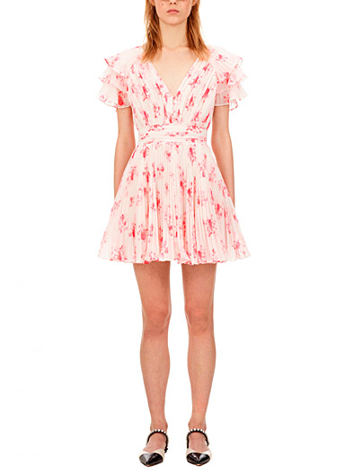 Self-Portrait Assorted Pleated chiffon floral dress for women
