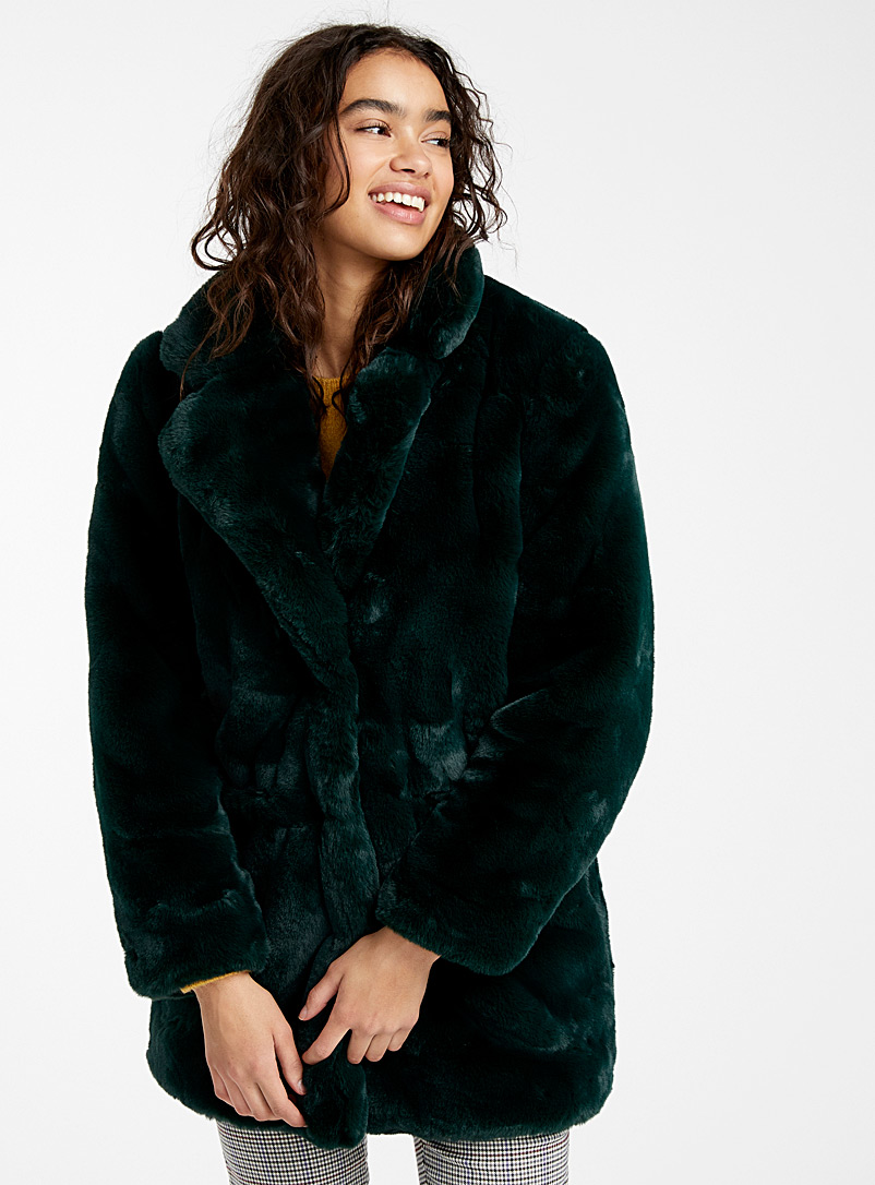 Soft plush coat - Jackets and Vests - Green