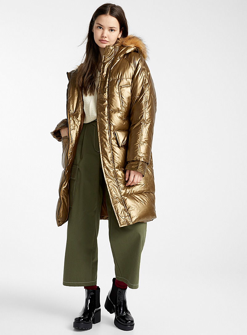 Bronze oversized puffer jacket - Anoraks and Parkas - Brown