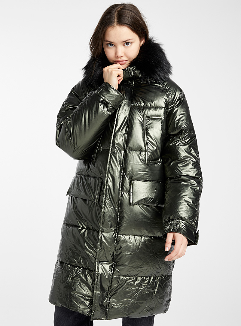 Bronze oversized puffer jacket - Anoraks and Parkas