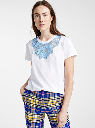 Butterfly lace T-shirt