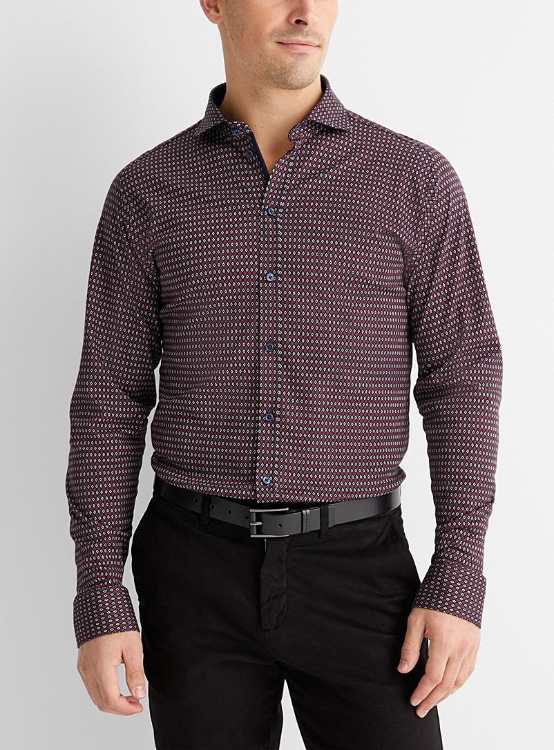Desoto Patterned Black Diamond mosaic shirt for men