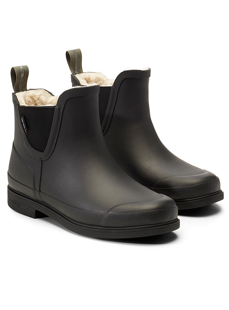 Tretorn Black Chelsea Eva winter boots for women