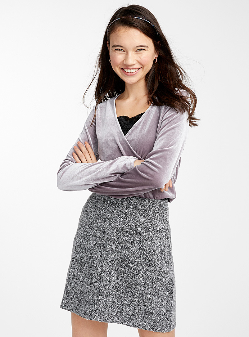 Tweed miniskirt - Short - Black and White