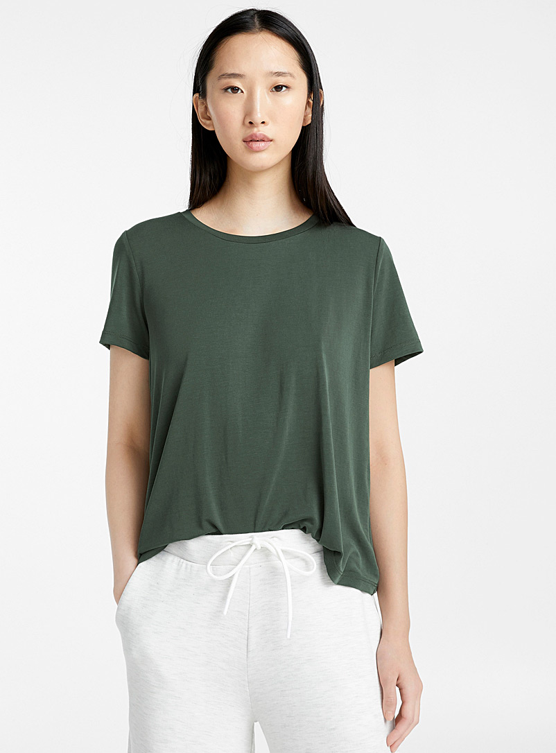 Miiyu x Twik Khaki Ultra soft lounge tee for women