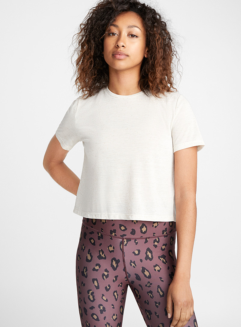 Linen blend cropped tee - T-shirts - Ivory White
