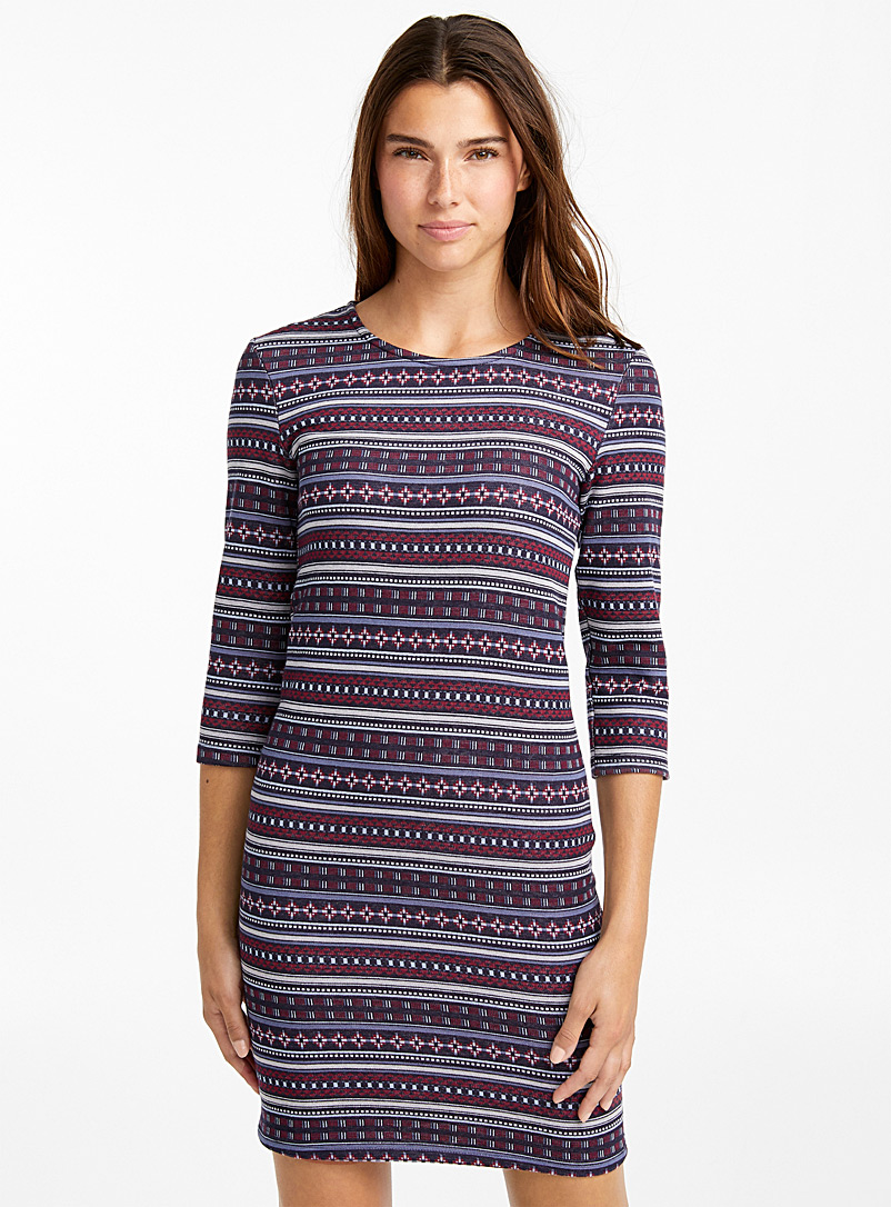 Graphic form-fitting dress - Bodycon - Assorted
