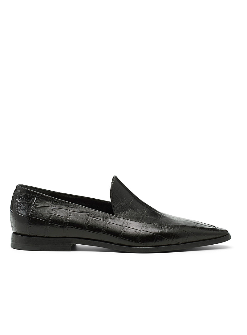 Dries Van Noten Black Pointed leather loafers for women